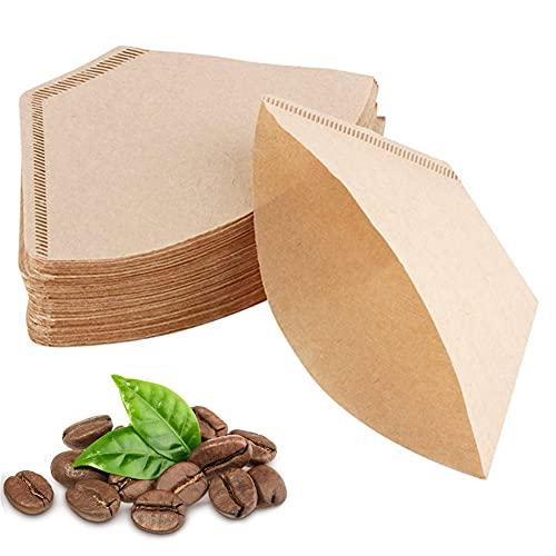 100 Pezzi Filtri In Carta Per Caffè,Fogli Di Monouso Marrone Naturale Non Sbiancato,Sacchi filtranti per macchine da caffè e filtri manuali