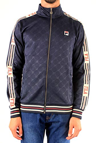 Fila Giacca Uomo Men IRODION Em Track Jacket 687298 Blu - Blu, S