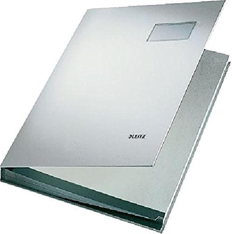 LEITZ Unterschriftsmappen 5700-00-85, grau, 24x34cm für für für A4 B00IHJZ73Q   Outlet  80cfe9