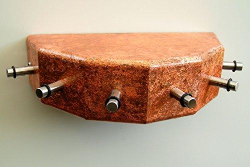 Porte-clés-cONSOLE, avec 6 crochets en acier, cuivre de style antique