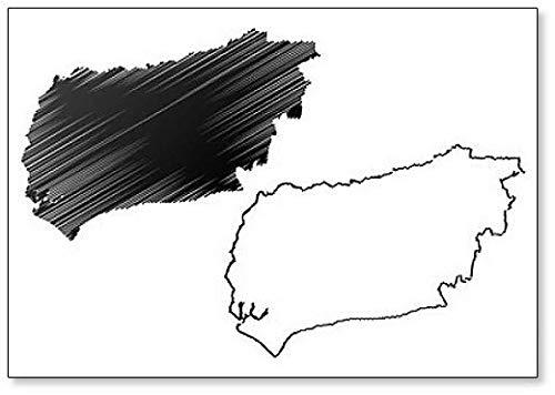 Imán para nevera con diseño de mapa de West Sussex (Reino Unido, Inglaterra, condado no metropolitano)