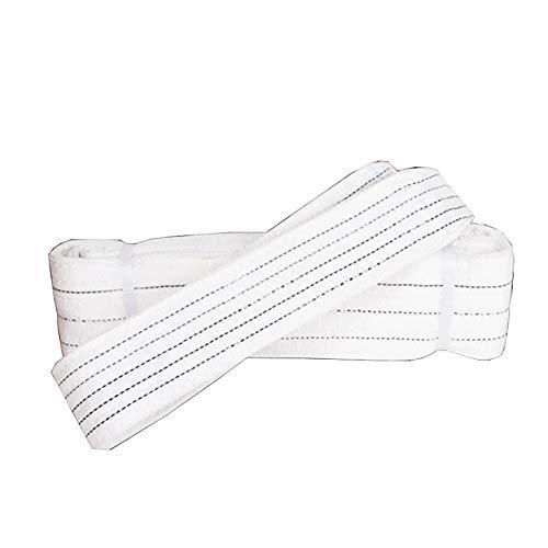 NeoMcc Gewebeschlaufen Sling Straps WLL 5 Tonne Hubschlinge Duplex Synthetische Faser-Gurtband-Flachhub-Ladungsschlingband Strop 2-6mtr Heben Sie Schlinge Gurte (Color : White, Size : 2m)