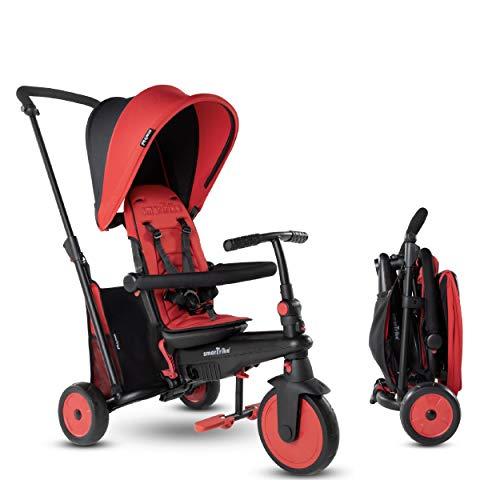 Smartrike- STR3 Plusieurs Étapes 6 en 1 Tricycle Pliable Enfant avec Certification Poussette pour 1,2,3 Ans, 5021533, Rouge