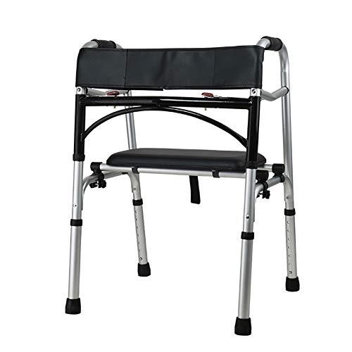 ZISITA Gehhilfe Progressive Mobility Aid Walker, Rollator, Selbstanpassenden Treppen Assist, Mobilitätshilfe Für Erwachsene Oder Senioren, Falten & Adjustable