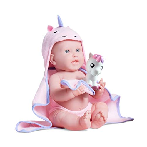 "JC Toys Bubbles & Bath Girl Baby Doll, 17"", Pink"