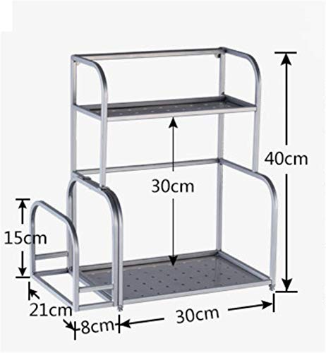 BIANJESUS Cocina Rack Holder Case Rack Separable Stainless Steel Inicio Acero Inoxidable...