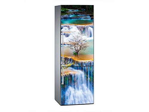 Oedim - Vinilo para Frigorífico Cascadas de huay mae KHA min 200x60cm | Adhesivo Resistente y Económico | Pegatina Adhesiva Decorativa de Diseño Elegante