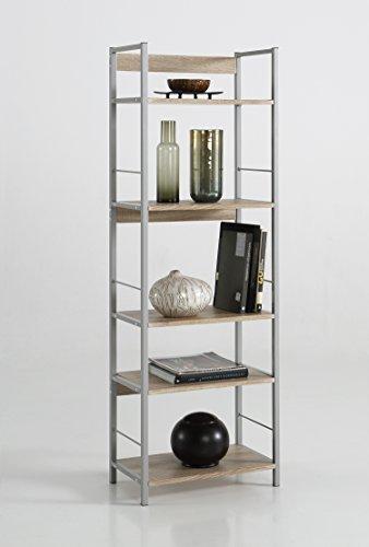 Kit Closet 32002 Estantería Kala 52 cm, Metal, Haya/Gris, 150x30x52