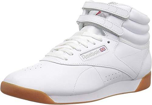 Reebok Women's Freestyle Hi Walking Shoe, White/Gum, 9.5 M US