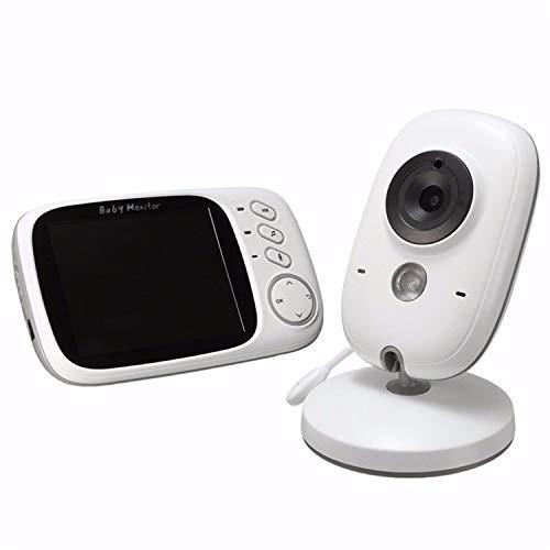 Langguth Electronics, Babyphone mit Kamera, Smart Baby Monitor Video Überwachung mit 3.2 Digital LCD Bildschirm Wireless, VOX, Nachtsicht, Wecker, Temperaturüberwachung, Gegensprechfunktion,