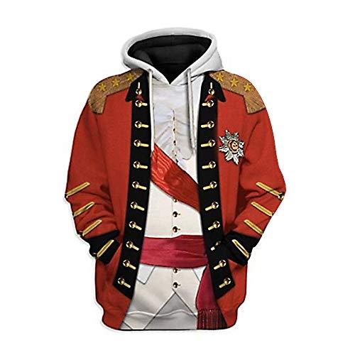 3D Impreso Pullover Hoodie Jacket Coat para influyentes figuras históricas Presidente Líder Cosplay Disfraz