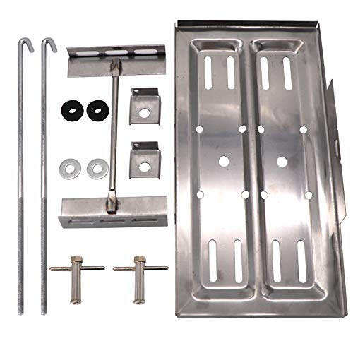 KIPA Universal Stainless Steel Universal Battery Tray Holder Hold Down Kit Street Durable 7 1/2' wide & 13 1/4' long