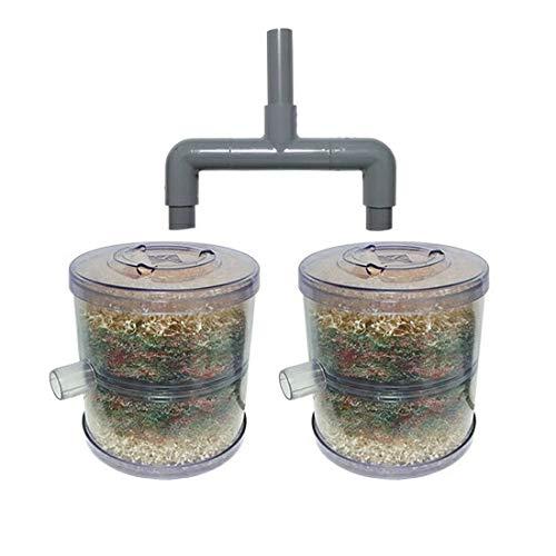 HKストレーナー本体 庭池仕様 2個+ポンプ吸水口径25mm2連ジョイント ホース接続タイプ(サクションホース別売)