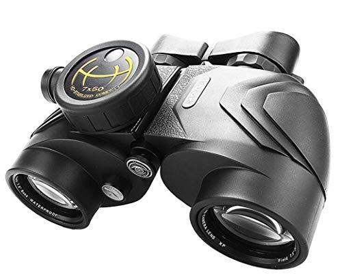 ZTYD Waterdichte verrekijker 7X50 voor volwassenen, HD Professionele verrekijker voor vogels kijken Tour - Anti-mist en schokbestendig kompas Ranging - met rugzak schoonmaken spiegel doek