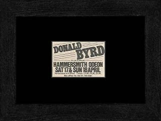 NME Donald Byrd - Hammersmith Odeon 17th/18th April 1982 Framed Mini Poster - 20x18cm