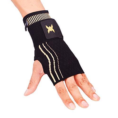 Thx4COPPER Kompressions Handgelenk Bandage mit verstellbarem Gurt,Kupfer Infundierte Handgelenk Manschette,handgelenkbandage arthrose,handgelenkstütze für Karpaltunnel Arthritis,Verstauchungen-Single