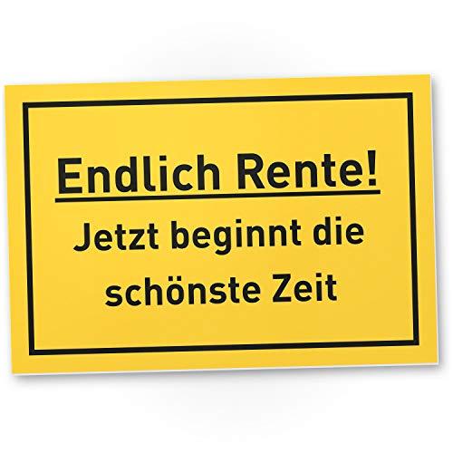 DankeDir! Rente – Cartel de plástico divertido con texto en alemán – Jubilación compañero mujer & hombres jubilación regalo jubilación – Decoración despedida jubilación tarjeta fiesta idea regalo