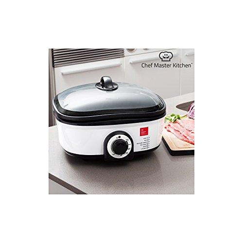 Chef Master Kitchen Quick Cooker–Robot da cucina con recetario e accessori, 7programmi di cottura, 1300W