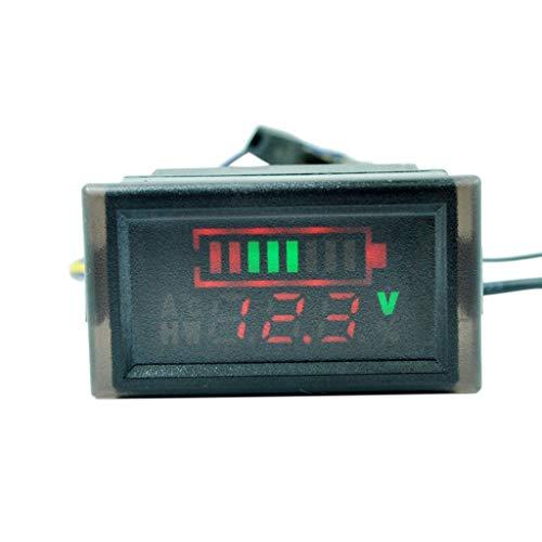 WT-DDJJK Voltímetro Digital, indicador de Capacidad de batería de voltímetro a Prueba de Agua para Scooter eléctrico 6-120V
