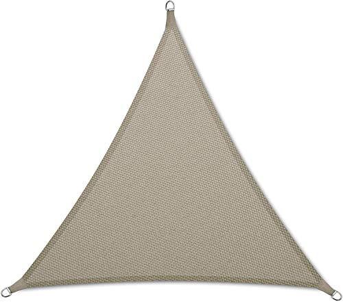 DPJ Voile Pare-Soleil PES Triangle Rectangle, Anthracite Protection Solaire UPF 50+ avec Cordes de Fixation, Gris, 2 * 2 * 2m