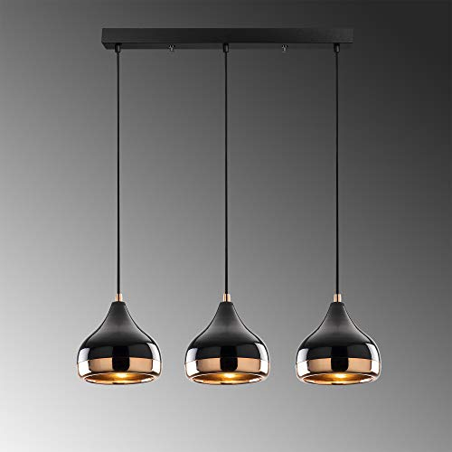3 techo colgante Iluminación lámpara metal jaula lámpara sombra E27 moderno retro luz de techo para comedor