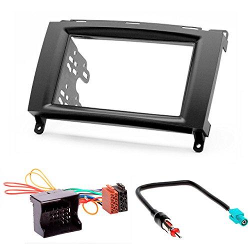 CARAV 11–133–24–7 Kit voiture de 2 DIN EN Dash Kit d'installation façade d'autoradio ISO and Antenna Adapter Cable