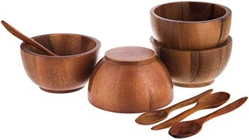 BestySuperStore Acacia Wood Bowl small bowl for soup Side dish bowl for Salad Dressing Dip Sauce product image