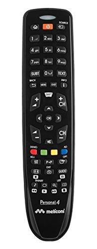 Meliconi Telecomando per TV PHILPS, Personal 4, Pronto all'uso, non necessita di programmazione, Nero