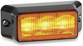 Federal Signal IPX300-2 IMPAXX LED Exterior/Perimeter Light, Class 2, Surface Mount, Clear Lens with Amber LEDs