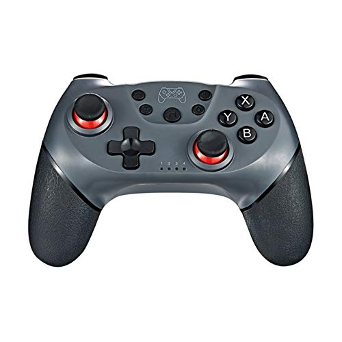 Gamepad Bluetooth NS NS N-Switch-Switch Pro Tablero de Juego Cambiar Palanca de Mando del USB de la Consola de Juegos inalámbrico Junta de Videojuegos Controlador (Color : Grey)