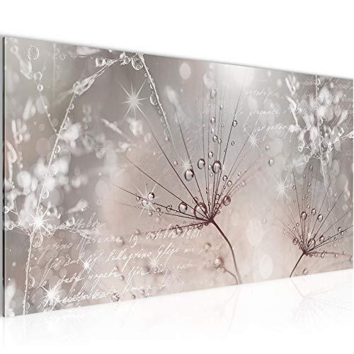 Wandbilder Pusteblume Modern Vlies Leinwand Wohnzimmer Flur Blumenwiese Rosa Grau 205512b