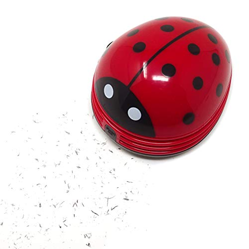 Honbay Ladybug Shaped Portable Corner Desk Vacuum Cleaner Mini Cute Vacuum Cleaner Dust Sweeper