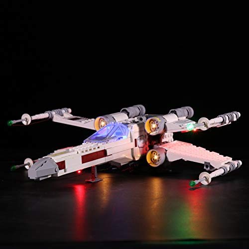 Elroy369Lion Juego de luces LED para LEGO Star Wars Luke Skywalker X-Wing Fighter 75301 (no incluye modelo Lego)