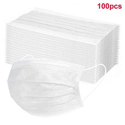 Damonday Protección 3 Capas Transpirables con Elástico para Los Oídos Pack 50/100 unidades 0710A (100 PCS)