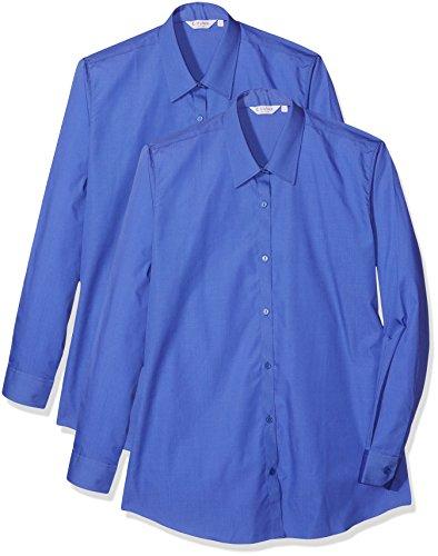 Trutex Mädchen Hemd (2er Pack), Blue (Enterprise Blue), 16-17 Jahre (Hersteller Größe:42)