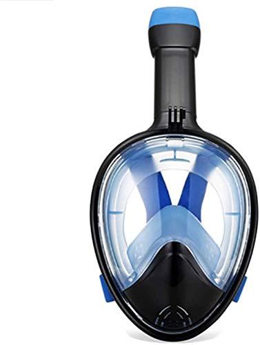 ZouYongKang Máscara de Snorkel - Máscara de Buceo y Snorkel de Cara Completa Original con Vista panorámica de 180 ° - Tubo de ventilación más Largo, estanco, Anti Niebla y Anti tecnología