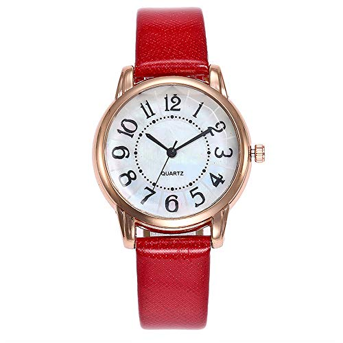 Rosennie Damen Armbanduhr Analoge Uhren Quarz Lederbanduhr Kunstleder Watches Business Uhr mit Leder Armband Damenuhr Sportuhr Quartz Analog Armband Uhr