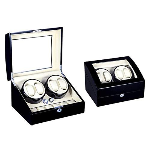 4 + 6 Automatische Uhrenbewegungsbox Für 10 Uhren, Slient-Motor und 5 Rotationsmodi Uhrenspeicherbox Leiser Motor Netzteil und batteriebetrieben (Farbe: D), Automatische Uhrenbewegerbox