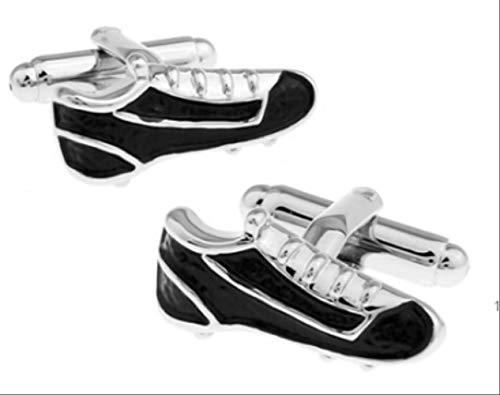 XKSWZD Gemelos de Hombre Moda Material de latón Fútbol Gimnasio Zapatos de fútbol Diseño Gemelos