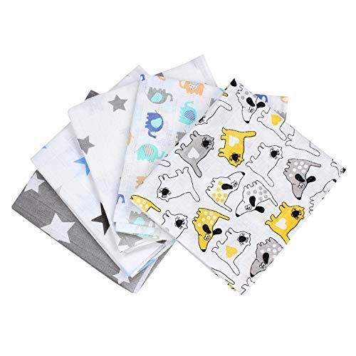TupTam Baby Mullwindeln Spucktücher 70x80 5er / 10er Pack, Farbe: Junge, Anzahl der Teile:: 5er Pack