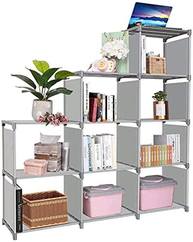 Armazenamento de cubos Organizador de 5 camadas de 10 cubos Estante de estante para sala de estar Sala de estudo Quarto e escritório (cor: A, tamanho: 60,0 x45,0 x10,0 cm)