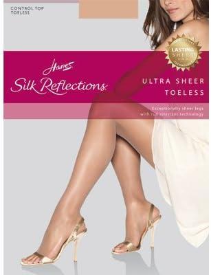Hanes Women's Ultra Sheer Toeless Control Top (3 Pack)