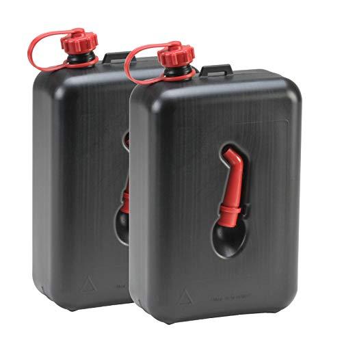 Hergestellt für BAUPROFI 2X Kraftstoff-Kanister 2 Liter schwarz (2er Set) Motorrad-Benzinkanister 2L