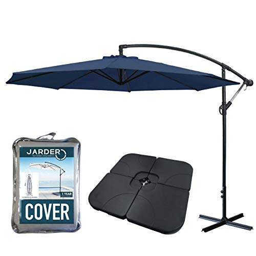 Jarder Libra Garden Parasol Set Cantilever Umbrella