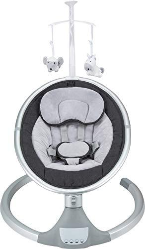 Born Lucky Dreamy Schwarz Elektrische Babyschaukel Babywiege Bluetooth USB Musik
