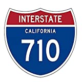 Interstate 710 R1989 California Highway Sign Road Printed Decal Sticker - 5' Sticker for Cars Windows Notebooks Lockers Etc