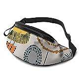 mengmeng Forma de estudio tallos Natural Bumbag Cintura Fanny Pack Cinturón Correr Hombres Mujeres Unisex Bum Bolsa Ajustable Bolsa de Cinturón para Entrenamiento Al Aire Libre Regalos de Senderismo