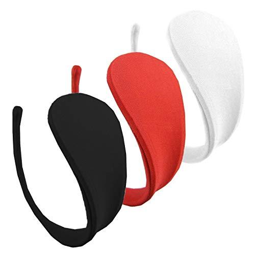 3er Set Damen C-String Slip Weiss Schwarz Rot Bikini Thong Unterhose Dessous Einheitsgröße S/M/L