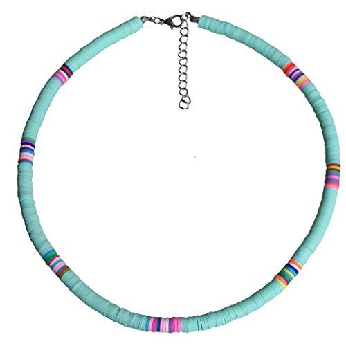 COMEYER - Gargantilla de Cuentas de Arcilla Colorida para Playa Bohemia, Collar de Arcilla polimérica arcoíris Boho