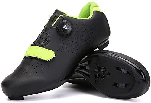 ZQW MTB Bike Bike Zapatos De Ciclismo, Compatible con Peloton SPD Delta Bicicletas De Carreras De Interior con Hebilla Giratoria Bloqueo Quick Cleat Bicycle Shoe